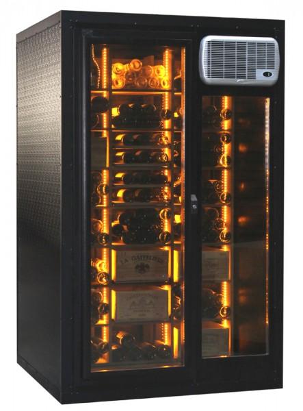 Glastür mit LED-Beleuchtung des Cavispace 600 Klimazelle, Klimaschrank und Klimatisierung in einem
