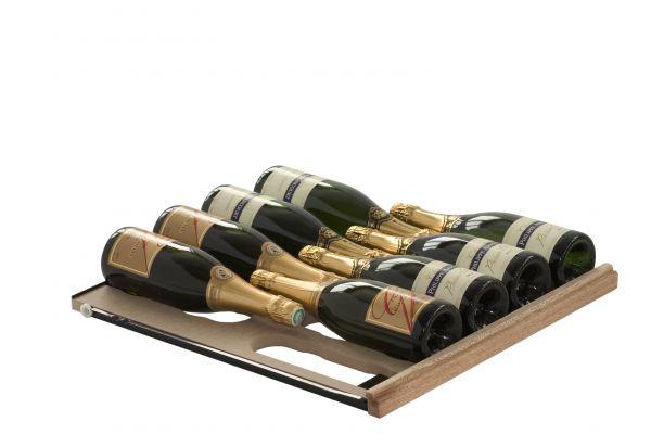 Ausziehbares Gleitregal für Champagner, Crémant oder Sekt für die Weinlager- und Klimalösung Cavispace
