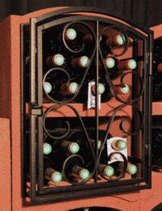 Große Schmiedeeiserne Tür für einen Bloc Cellier Standard oder Maxi