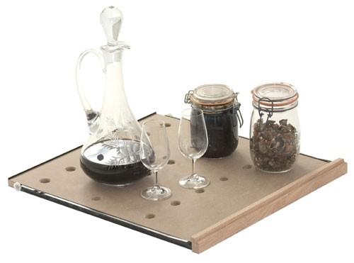 Ausziehbares Gleitregal für Gläser, Flaschen und Dekanter für Cavispace