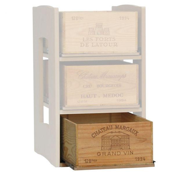 Gleitregal für Holzkisten des modularen Aufbausystems für Ihren Weinkeller Cavicase